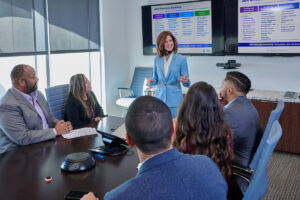 corporate business lifestyle photography of meeting in conference room